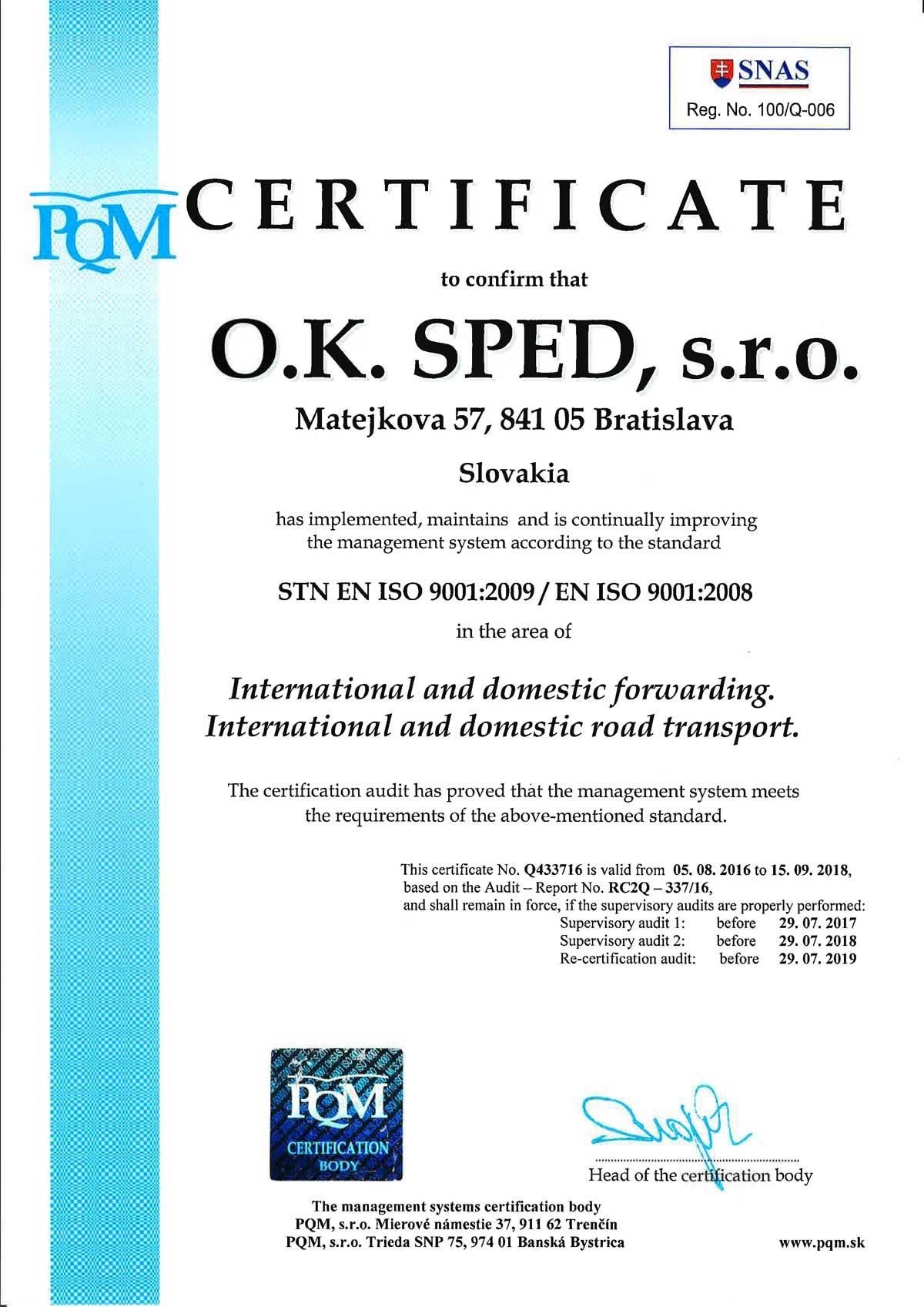 Ok sped sro certificate stn en iso 90012009 en iso 90012008 xflitez Images
